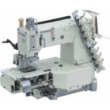 Промышленная швейная 6-ти игольная машина KANSAI FX4406P/UTC с цилиндрической платформой