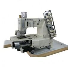 Промышленная швейная 6-ти игольная машина KANSAI FX-4406PMD с цилиндрической платформой