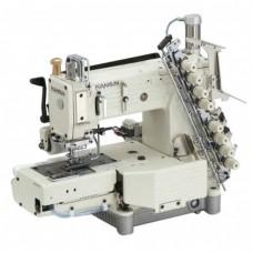 Промышленная швейная 12-ти игольная машина KANSAI FX-4412PMD с цилиндрической платформой